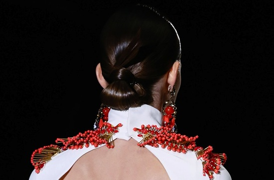 bridal updo wedding hair inspiration fashion week Gucci 3