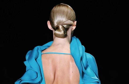 bridal updo wedding hair inspiration fashion week Gucci 4