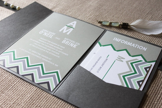 emerald green for elegant fall weddings modern invitation