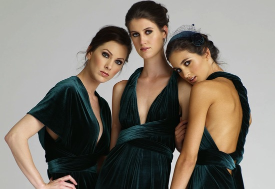 emerald green for elegant fall weddings bridesmaid dresses