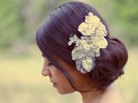 fall winter wedding ideas handmade velvet treasures from Etsy embellished headpiece