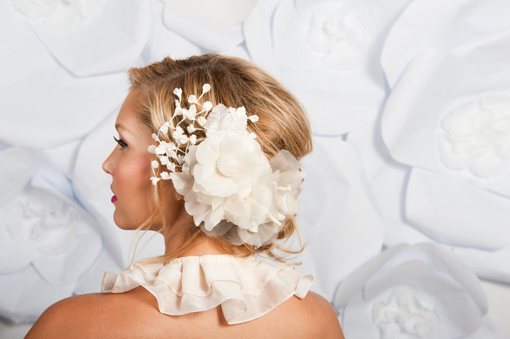 fall winter wedding ideas handmade velvet treasures from Etsy floral hair accessory
