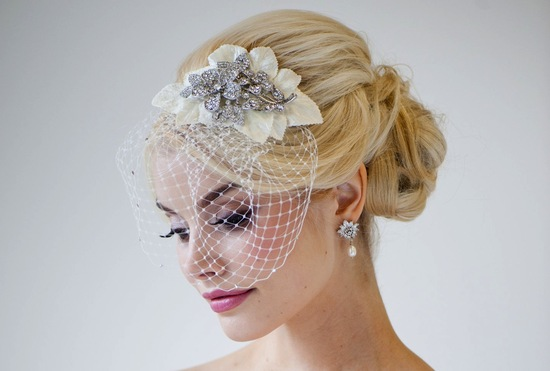 fall winter wedding ideas handmade velvet treasures from Etsy birdcage veil