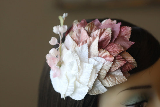 fall winter wedding ideas handmade velvet treasures from Etsy ombre fascinator