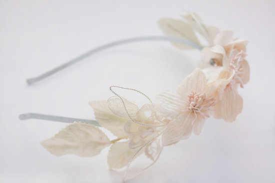 fall winter wedding ideas handmade velvet treasures from Etsy romantic headband