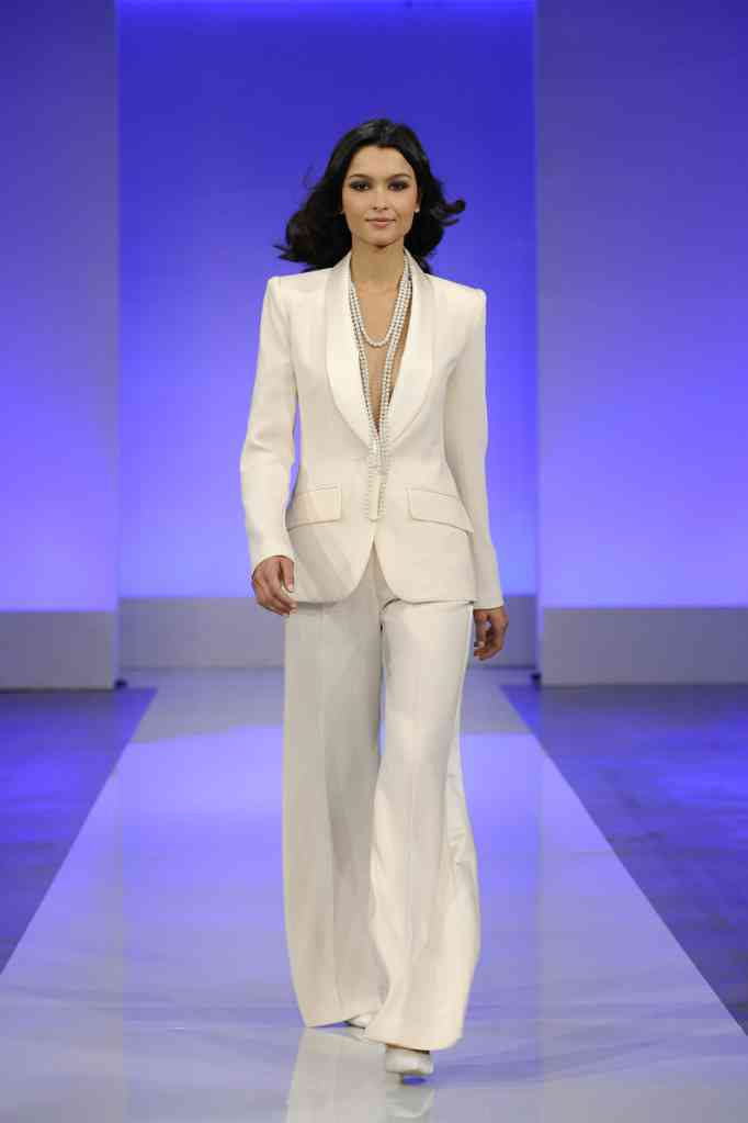 wedding dress collection first look Cymbeline bridal 4 pants suit