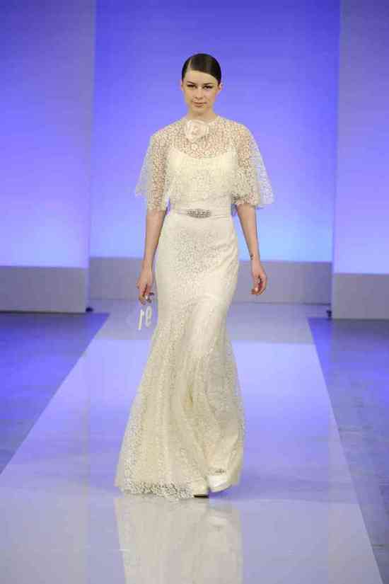 2013 wedding dress collection first look Cymbeline bridal v neck sheath