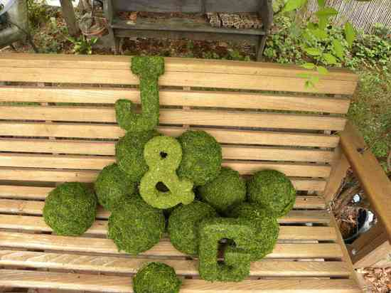 memorable moss wedding decor for ceremony reception monogram