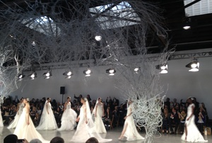 photo of monique lhuillier wedding dresses 2013 fall bridal market 1