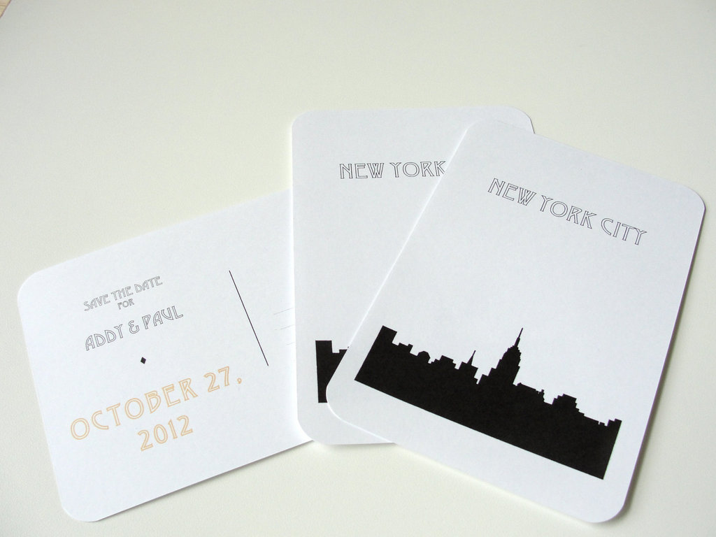new york wedding inspiration handmade Etsy weddings art deco invitation