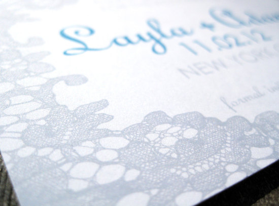 new york wedding inspiration handmade Etsy weddings lacy invitations