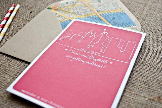 new york wedding inspiration handmade Etsy weddings pink white save the date