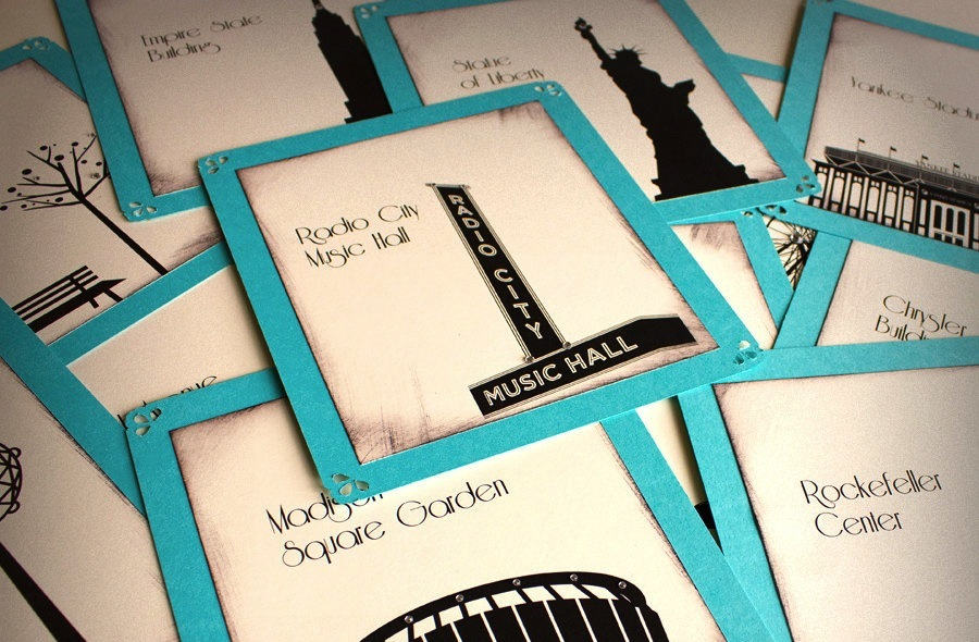 new york wedding inspiration handmade Etsy weddings reception table cards