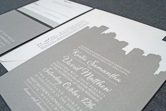 new york wedding inspiration handmade Etsy weddings modern letterpress invitations