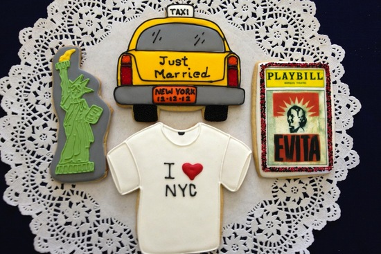new york wedding inspiration handmade Etsy weddings custom cookies