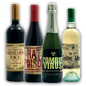 f1db evil fake wine bottle labels