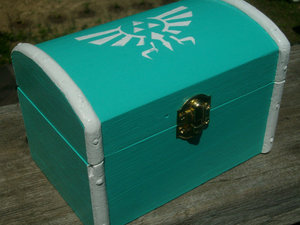 photo of Zelda Royal/Hylian Crest Wooden Box via Etsy seller 8 Bit Momma