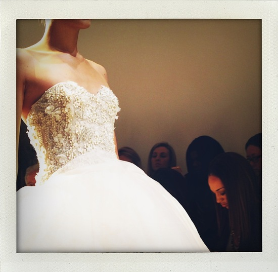 photo of fall 2013 bridal market wedding dress detail