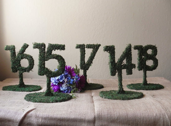 rustic moss wedding ceremony reception decor eco friendly 1