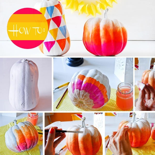 fall diy http fun kyti me ombre pumpkins step 1