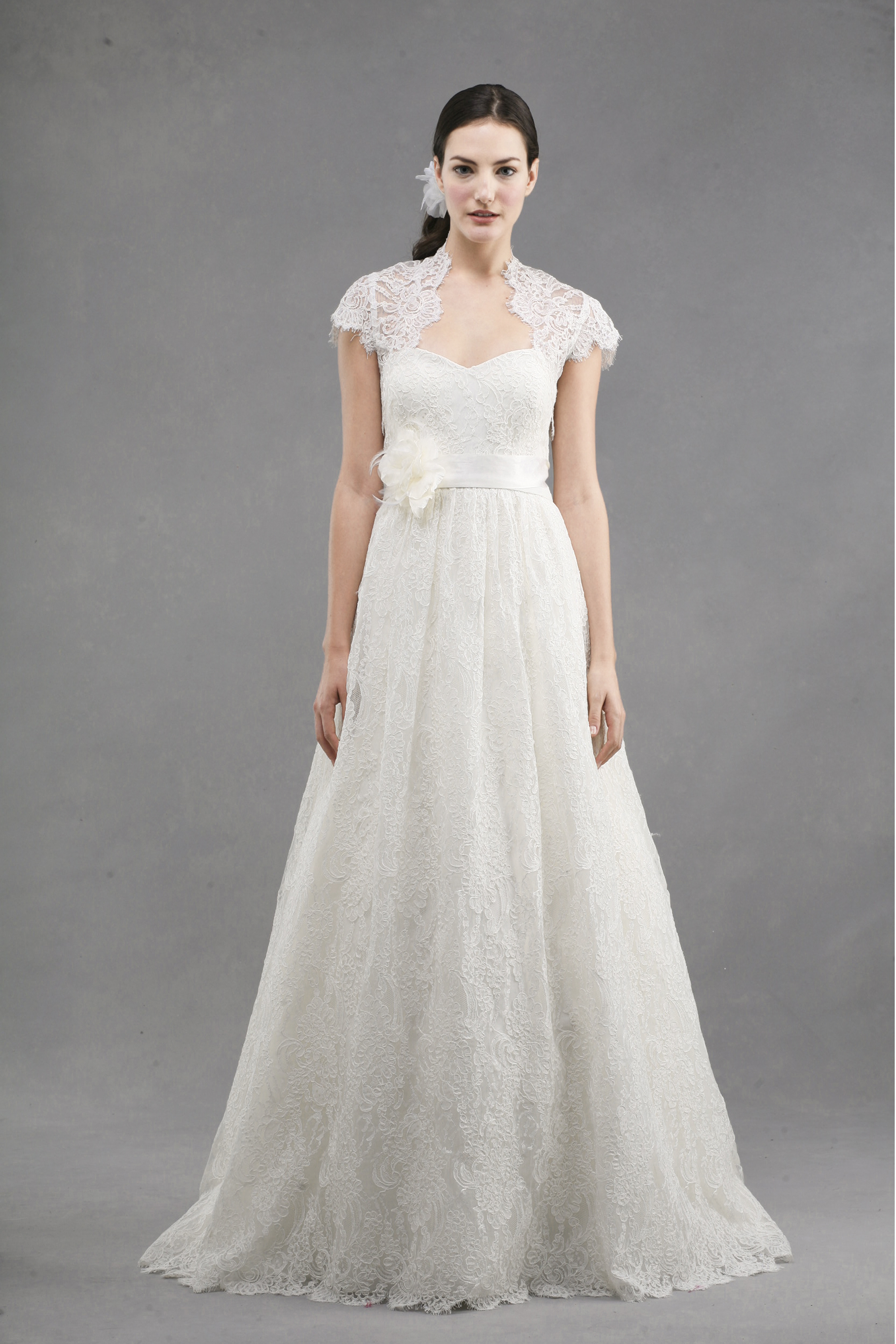 Wedding dress by jenny yoo spring 2013 bridal bianca lace for Jenny beckman wedding dresses