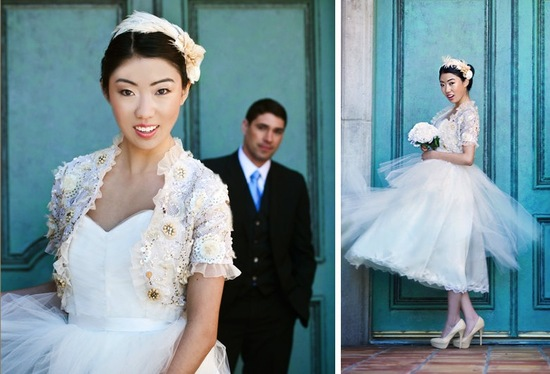 Beautiful bridal boleros to top a simple wedding dress