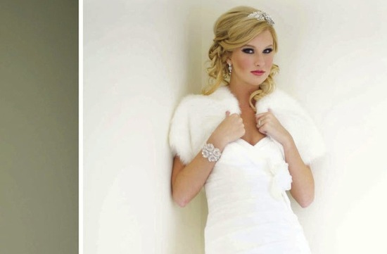 beautiful bridal boleros to top a simple wedding dress fur shrug