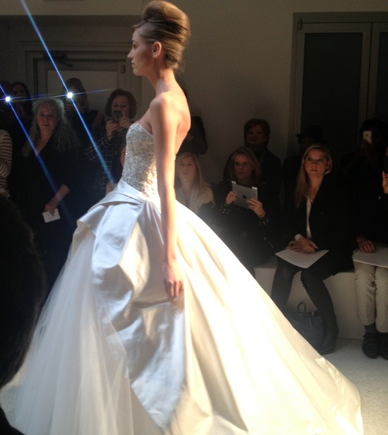 photo of kenneth pool wedding dress spring 2013 bridal 8