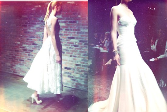 instagram shots from bridal fashion week Spring 2013 wedding dresses 1