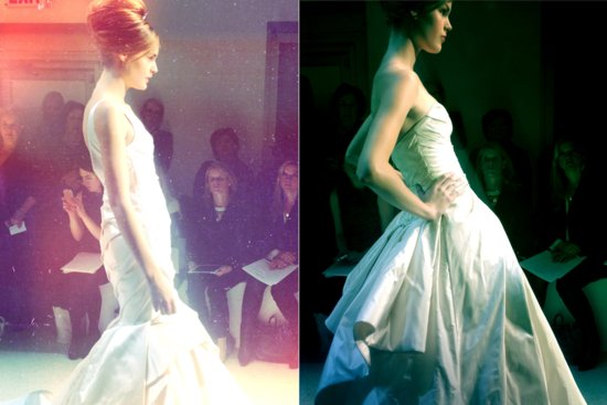 instagram shots from bridal fashion week Spring 2013 wedding dresses 2