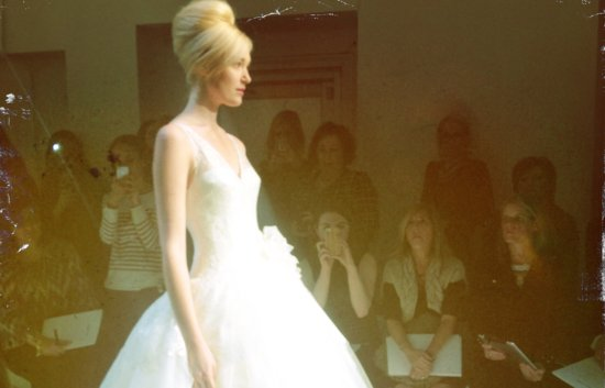 instagram shots from bridal fashion week Spring 2013 wedding dresses 4